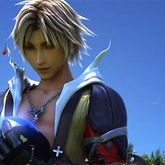 Tidus and his crystal.