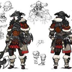Warrior Relic Equipment concept art.