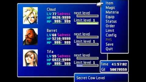 Northern Cave - Secret Cow Level - FFVII PC 2012 re-release