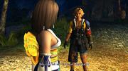 FFX HD Yuna Tidus Besaid Campfire