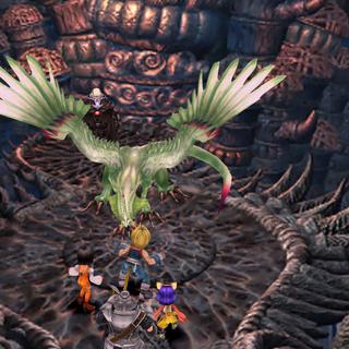 Garland summons the Silver Dragon.