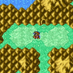 Cavern of Ice on the World Map (GBA).