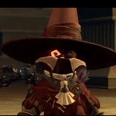 A Black Mage NPC in <i>Final Fantasy XIV</i>.