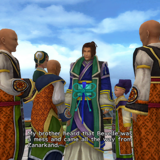 Isaaru returns to Bevelle in <i>Final Fantasy X-2</i>.