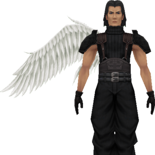 Model of Angeal with wings.