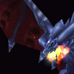 Bahamut readying Mega Flare.