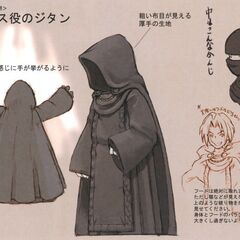 Concept art of a robed Zidane.