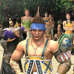 Wakka, Lulu and Vidina in <i>Final Fantasy X-2</i> ending FMV.