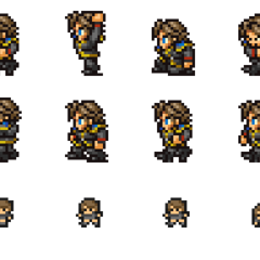 Set of Squall's SeeD Uniform sprites.