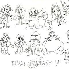 Quick sketch by Tetsuya Nomura.