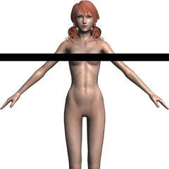 Vanille's nude model.