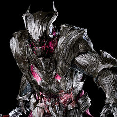 A full-body, CG render of Glauca.