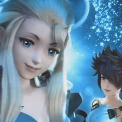 Edea and Tiz in the opening FMV.