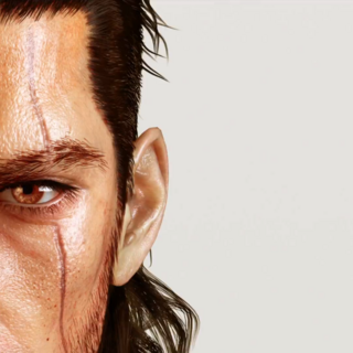 Closeup of Gladiolus's face, as seen in the E3 2013 trailer.