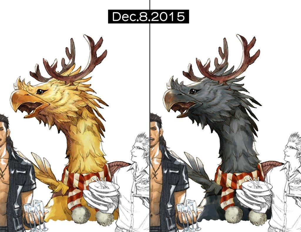 Image - Chocobo-Christmas-Art-FFXV.jpg | Final Fantasy Wiki ...