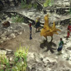 Chocobo Knights in Djose in <i>Final Fantasy X</i>.