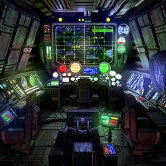 Submarine control room.