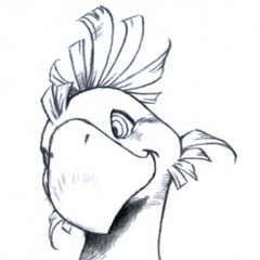 Chocobo portrait sketch.