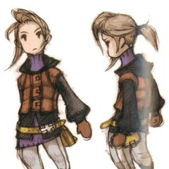 Concept art of Luneth by Akihiko Yoshida.