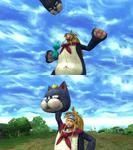 Rikku Mascot Victory Pose
