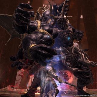 The Warrior of Light encounters Sephirot.