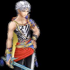 Bartz's alternate Amano artwork render from <i>Dissidia Final Fantasy</i>.