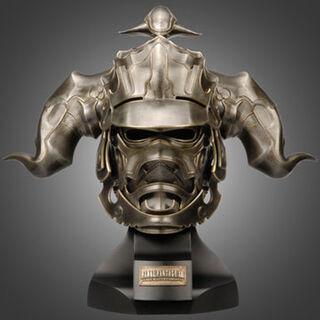 Life size replica of Gabranth's helmet.