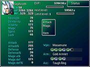 Sephiroth's stats