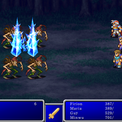 Blizzard III cast on all enemies in <i>Final Fantasy II</i> (iPod).