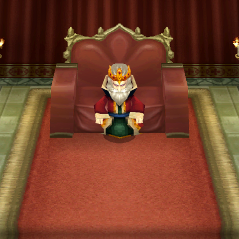 The King of Baron faces the party (DS/iOS).