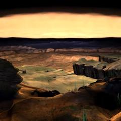 A sand valley near Calm Lands.