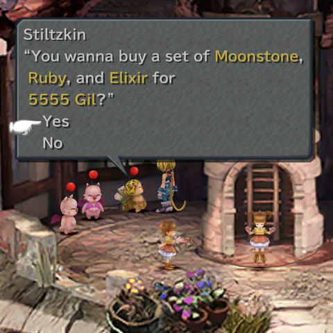 Stiltzkin sells the party items.