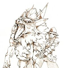 Promotional artwork of the Summoner job class by Yuzuki Ikeda.