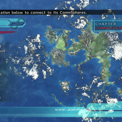 CommSphere menu (PS3).