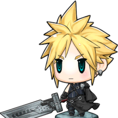 <i>Advent Children</i> Cloud's portrait.