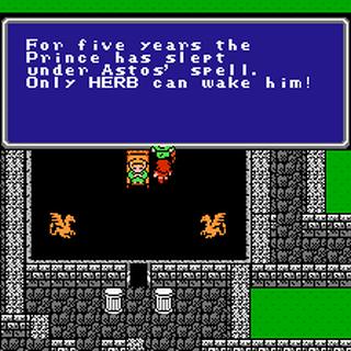 The prince found sleeping (NES).