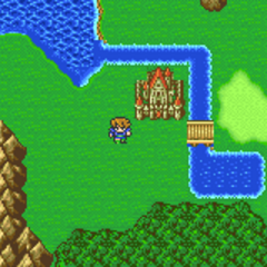 Castle Surgate on the Merged World Overworld (GBA).