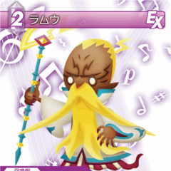 Trading card of Ramuh from <i>Theatrhythm Final Fantasy</i>.