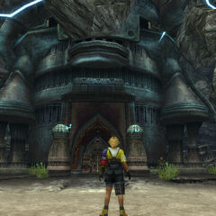 Outside Djose Temple in <i>Final Fantasy X</i>.