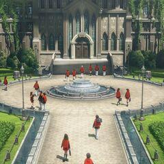 Concept screenshot of the gardens for <i>Final Fantasy Agito XIII</i>.