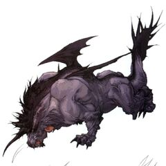Concept art of winged Behemoth for <i>Final Fantasy XI</i>.