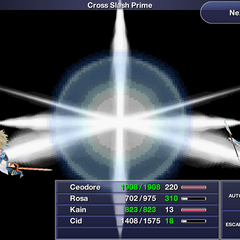 Cross Slash Prime in <i>Final Fantasy IV: The After Years</i> (iOS/Android).