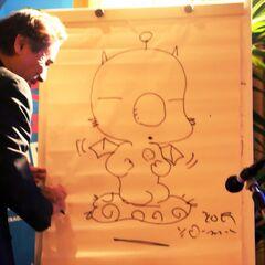 Yoshitaka Amano drawing Mog live.