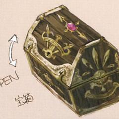 Gaia chest artwork from <i>The Art of Final Fantasy IX</i>.