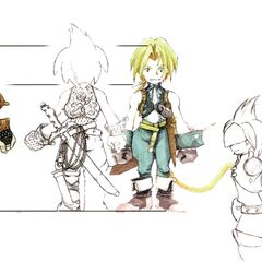 Concept artwork of Gilgamesh in <i>Final Fantasy IX</i>.