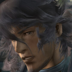 In-game shot of Al-Cid without his glasses.