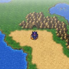 The Antlion's Den on the World Map (PSP).