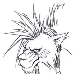 Red XIII portrait sketch.