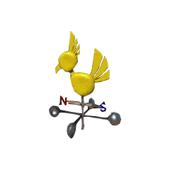 Chocobo Weather Vane - Chocobo Farm.