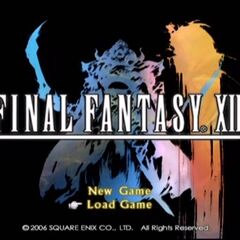 Main menu screen of <i>Final Fantasy XII</i>.